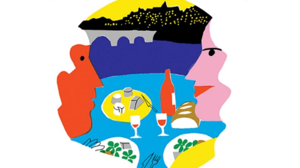 Le logo du  Festival Goût de France en Atlantique.