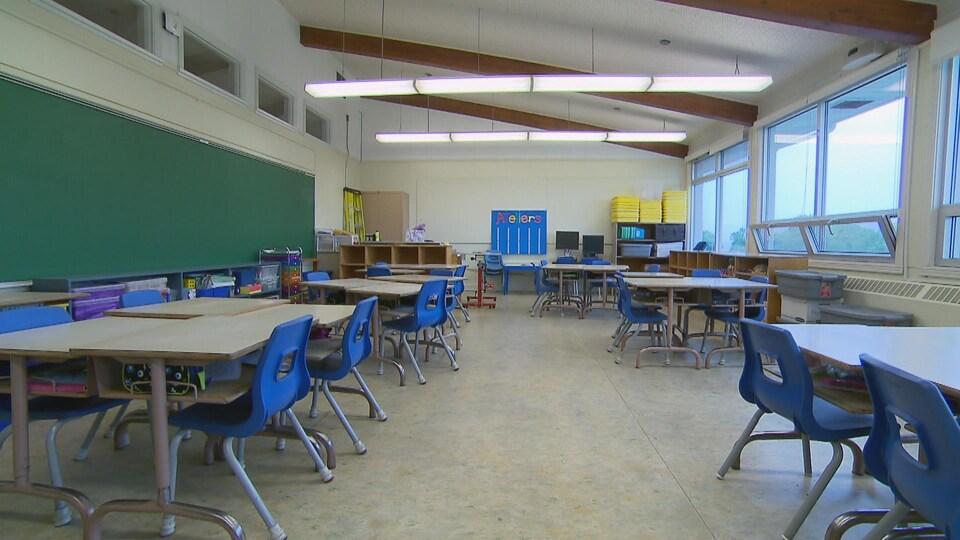Cette classe de l'école du Grand-Voilier de Lévis sera rénovée pour accueillir des maternelles 4 ans au cours d'une seconde phase de travaux.