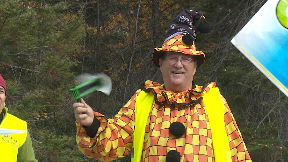 Un clown manifeste