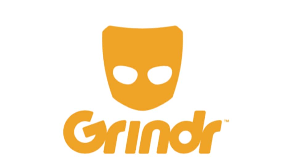 Logo de Grindr qui représente un masque jaune.
