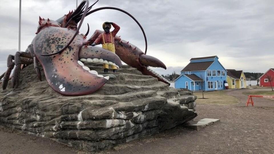 Homard géant situé au parc Rotary de Shediac