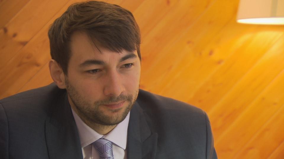 Guillaume Cliche-Rivard, président de l'Association québécoise des avocats et avocates en droit de l'immigration