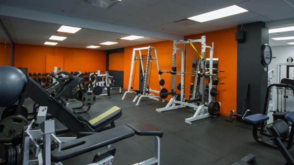L'intérieur d'un gym à Québec.