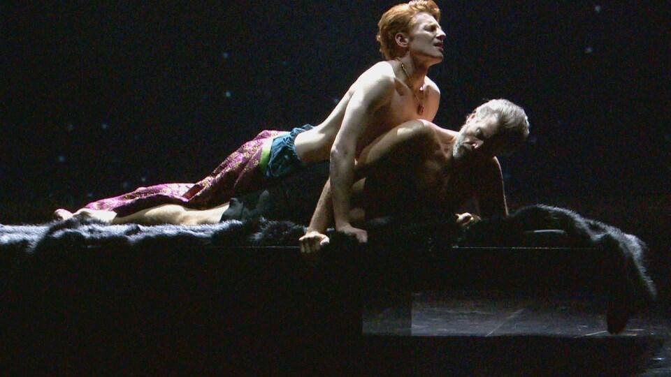 Une scène de l'opéra Hadrian, lors de la répétition générale.