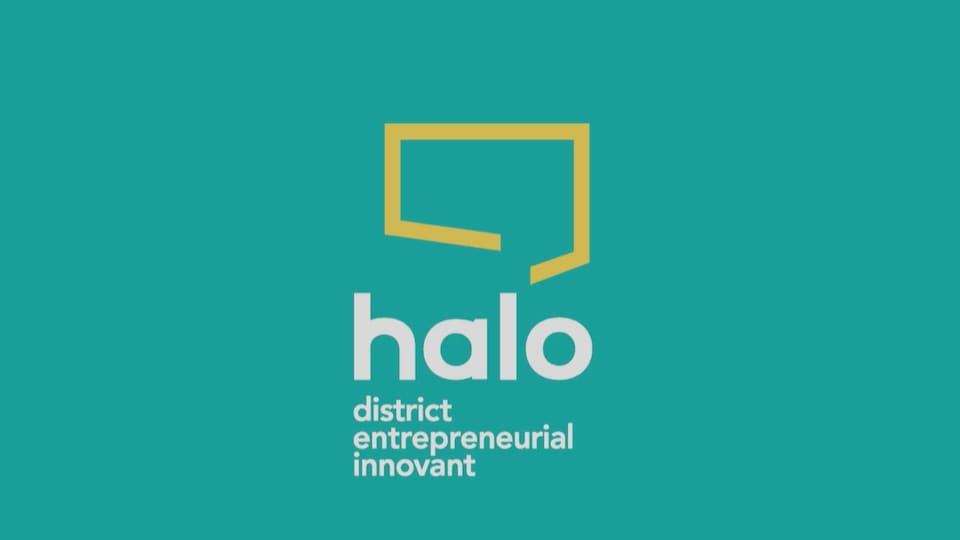 Le logo où on peut lire Halo district entrepreneurial innovant.