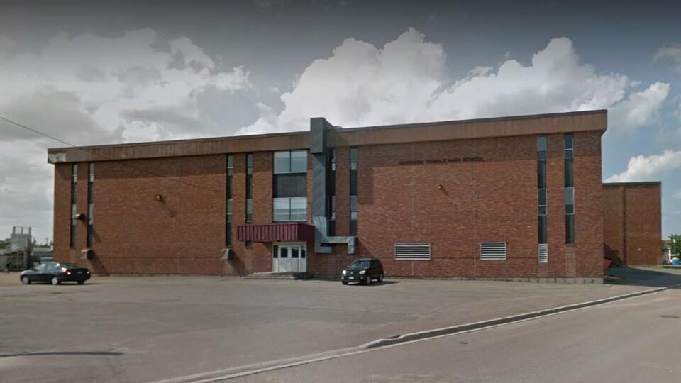 L'école secondaire Harrison Trimble de Moncton, au Nouveau-Brunswick.