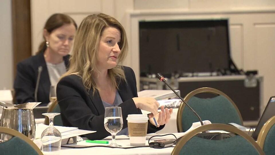 Heather Black aux audiences de la Commission de l'énergie.