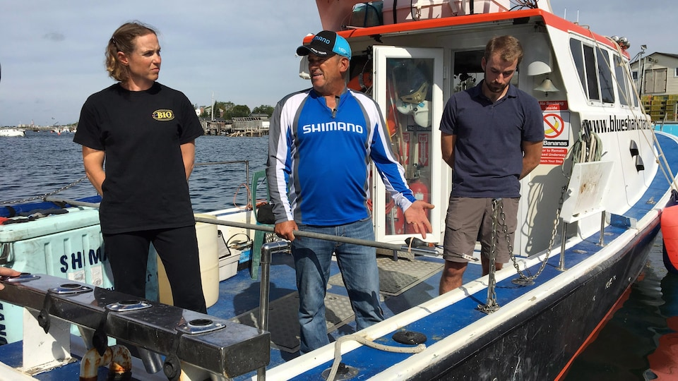Heather Bowlby sur un bateau.