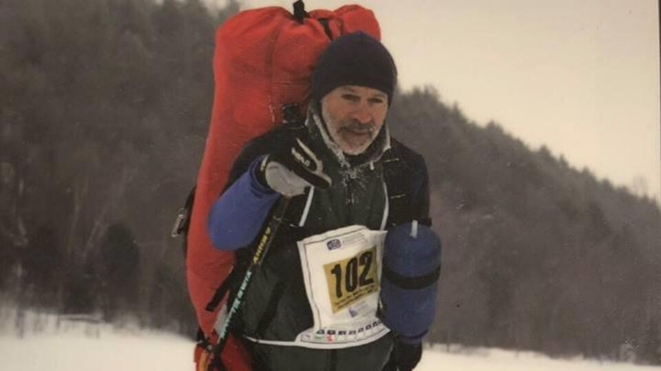 Hervé Leblanc au Marathon canadien de ski fond