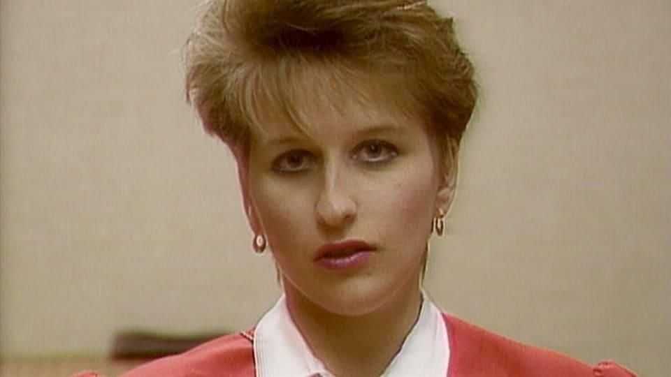 Chantal Daigle lors d'une entrevue accordée à Radio-Canada, le 17 juillet 1989