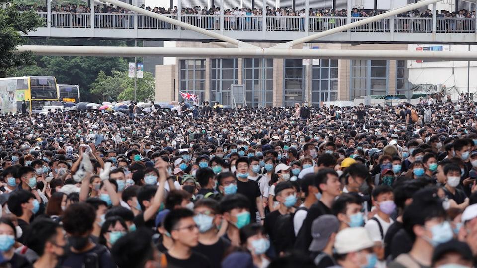 Manifestation contre un projet de loi d'extradition à Hong Kong