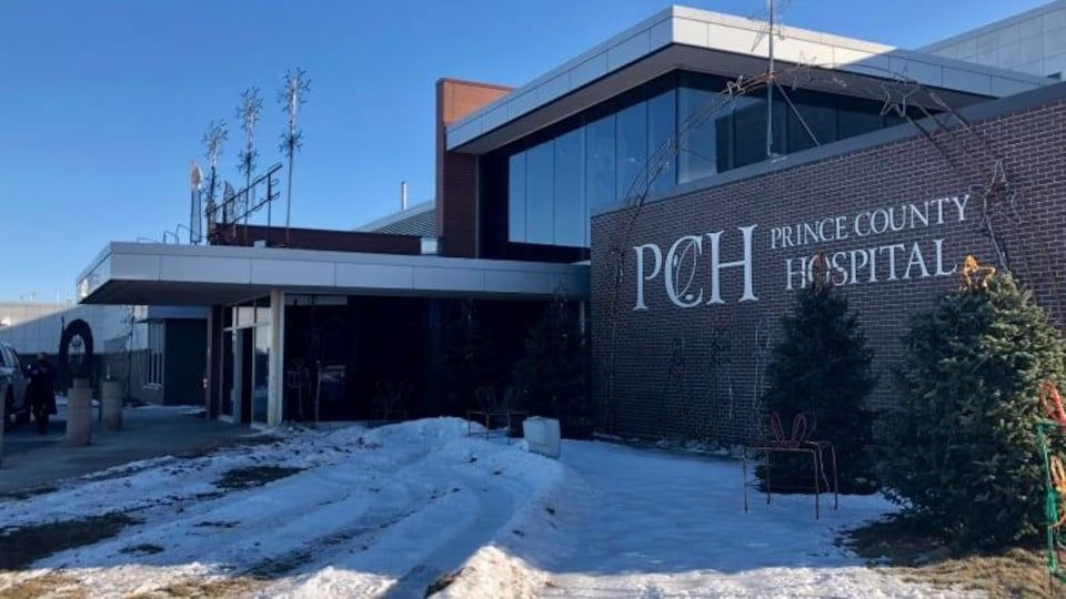 La façade de l'hôpital du comté de Prince à Summerside.