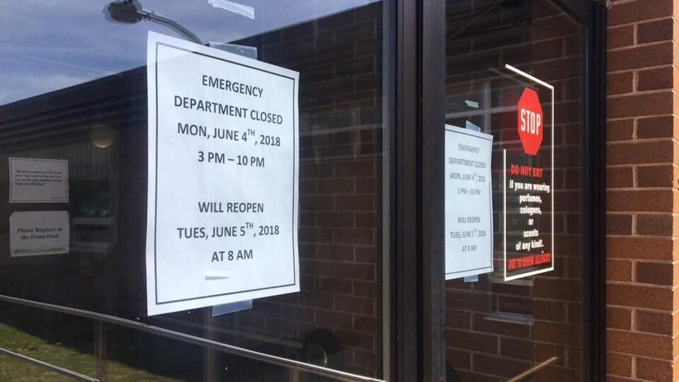 Les fermetures se multiplient à l'urgence de l'hôpital Memorial du comté de Kings, à l'Île-du-Prince-Édouard.
