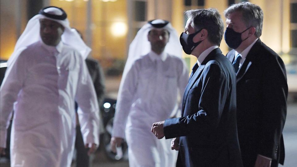 Antony Blinken à son arrivée à Doha