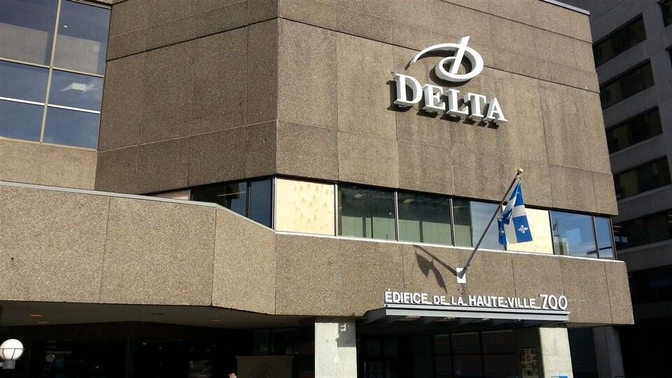 Façade de l'hôtel Delta de Québec.