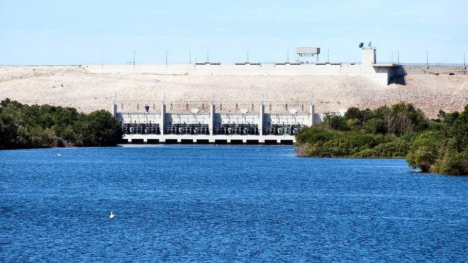 Un barrage hydroélectrique.