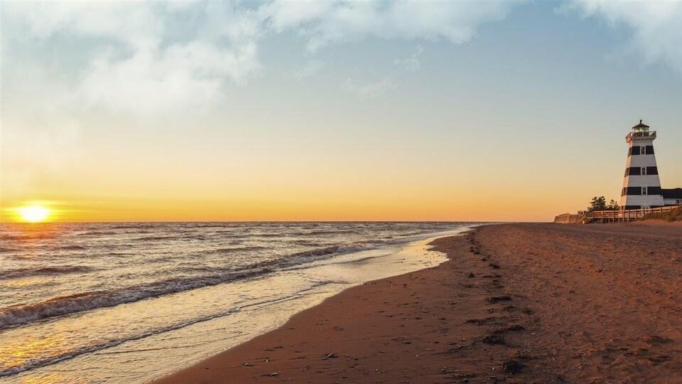 Coucher de soleil à l'Île-du-Prince-Édouard