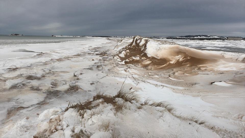 Glaces et rivages dans l'archipel