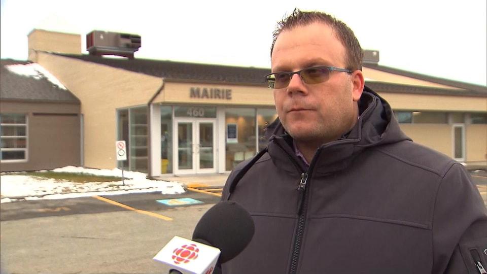 Le maire des Îles-de-la-Madeleine Jonathan Lapierre.