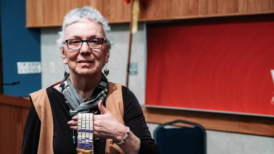 Imelda Perley, de la Première Nation Tobique, au Nouveau-Brunswick
