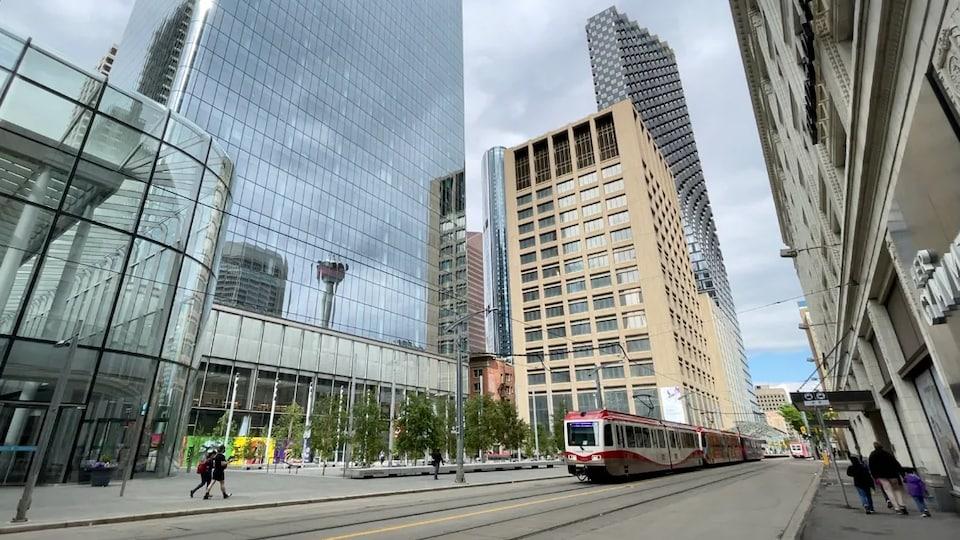 Des immeubles du centre-ville de Calgary.