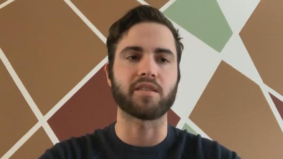 Julien Rainville-Lajoie en entrevue Facetime.
