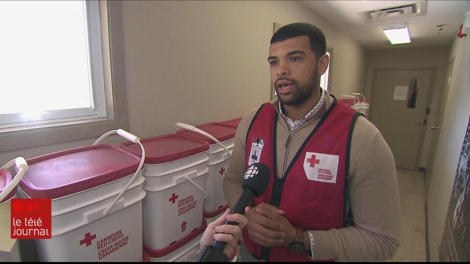 Reda Debbagh, coordonnateur de la gestion des urgences au sein de la Croix-Rouge