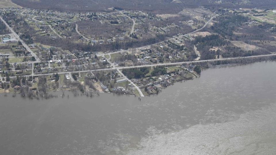 Le secteur de Cumberland pendant la crue printanière de 2019.