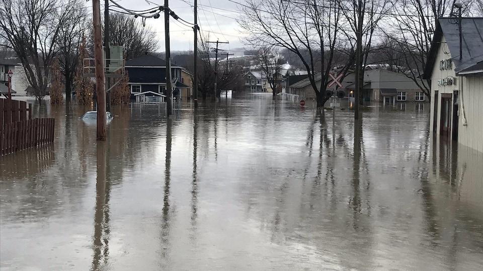 Inondation à Sainte-Marie, en Beauce
