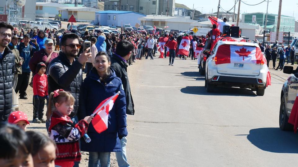 Le défilé de la fête du Canada à Iqaluit en 2019.