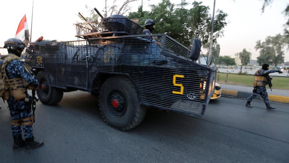Des membres de la police fédérale irakienne.