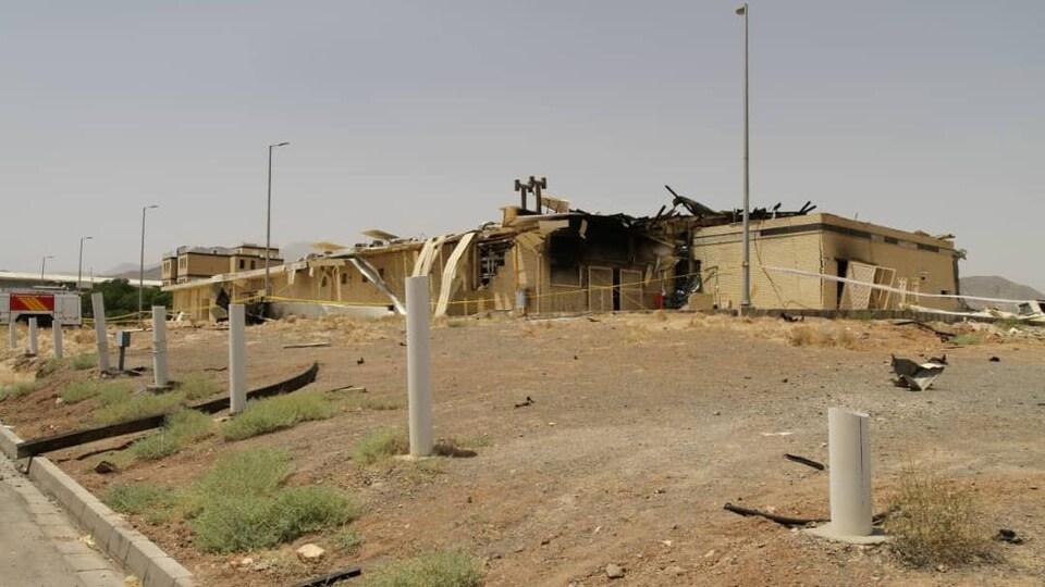 Une vue du bâtiment du complexe de Natanz, où a eu lieu l'incident en juillet