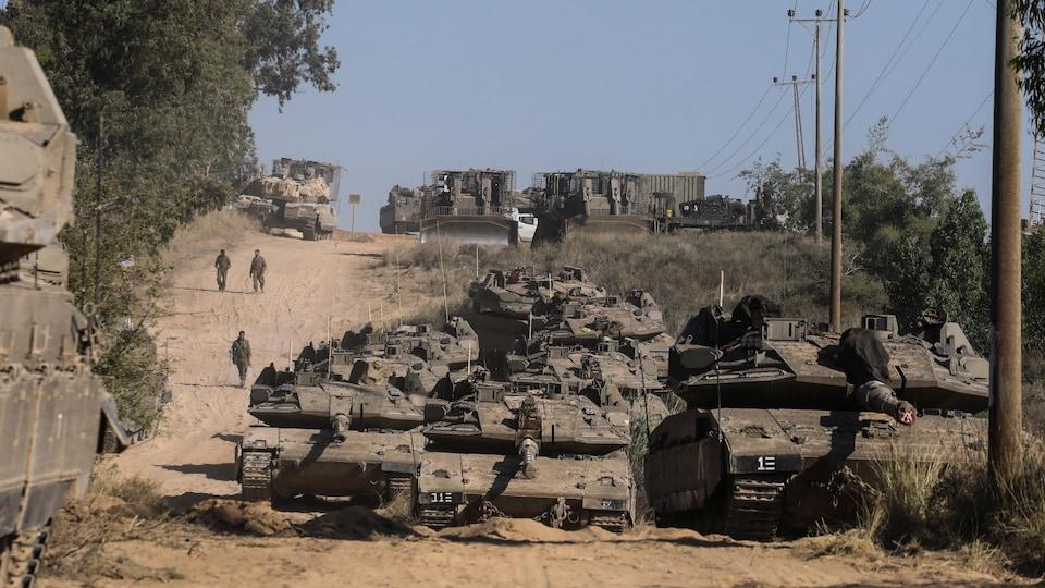 Des chars israéliens.