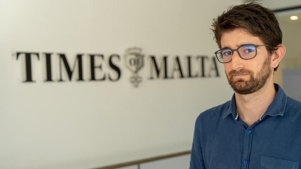 Le journaliste Jacob Borg du Times of Malta.