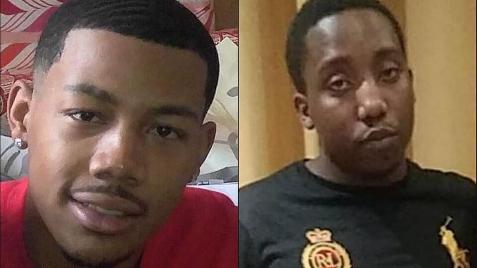 Deux jeunes hommes noirs.