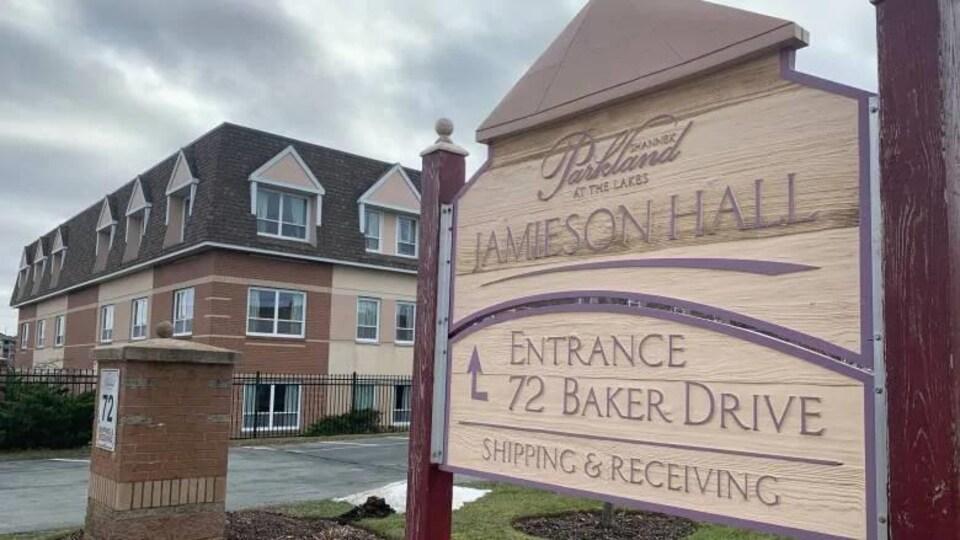 Enseigne de Jamieson Hall.
