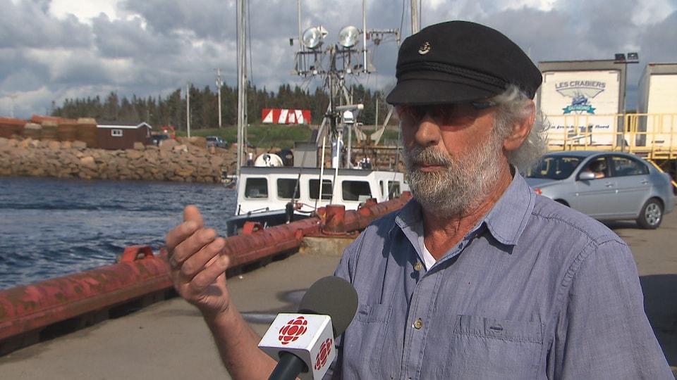 Jean-Claude Landry, président de la corporation du port régional de Natashquan