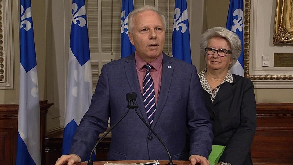 Jean-François Lisée et Agnès Maltais
