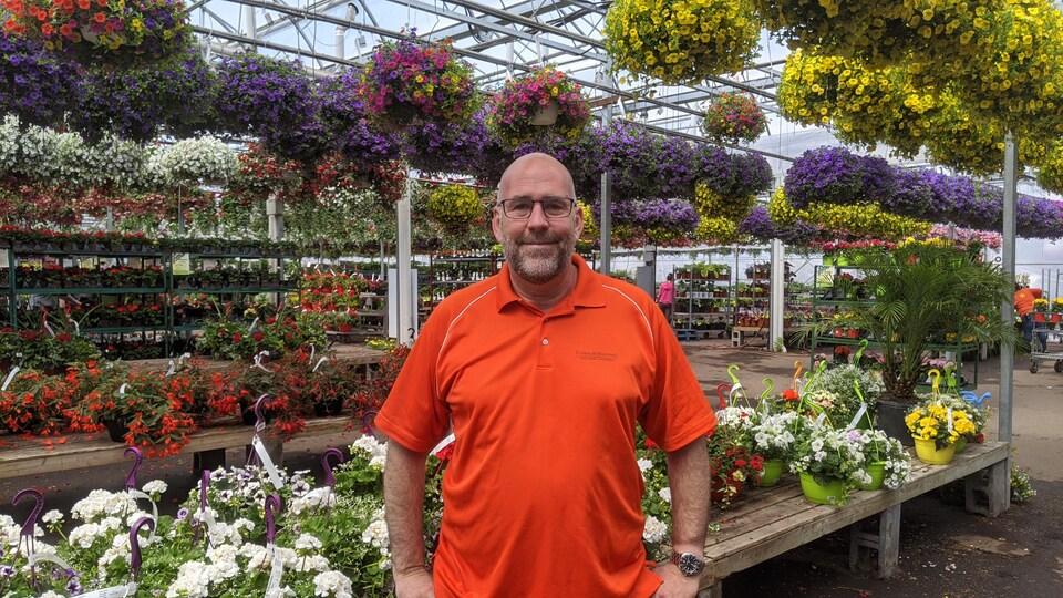 Jean-Guy Daoust, propriétaire de Floralies Jouvence.