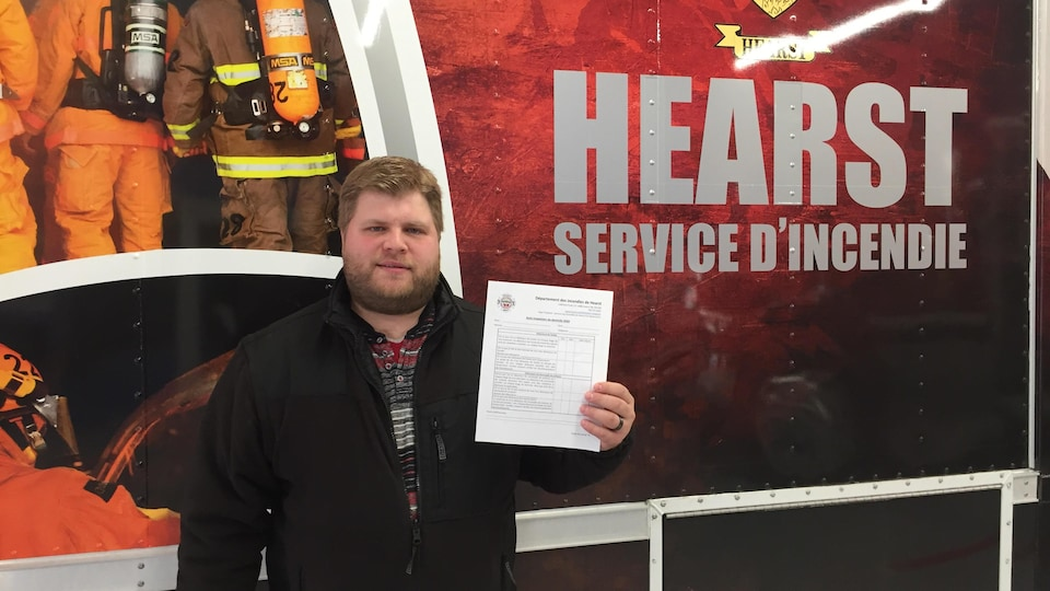 L'agent de prévention des incendies de Hearst, Jean-Michel Chabot.