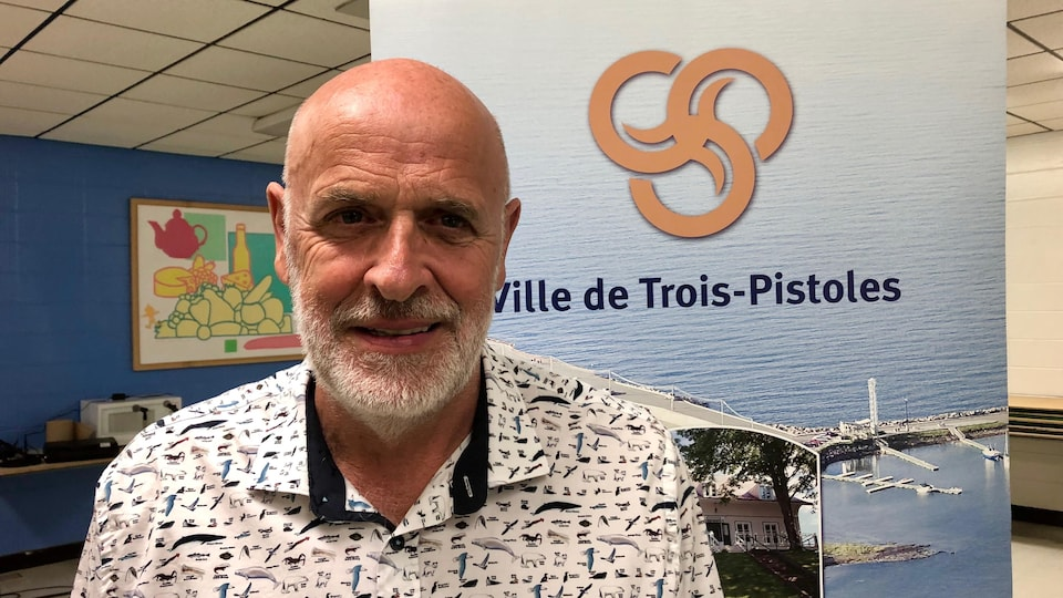 Le maire de Trois-Pistoles, Jean-Pierre Rioux.