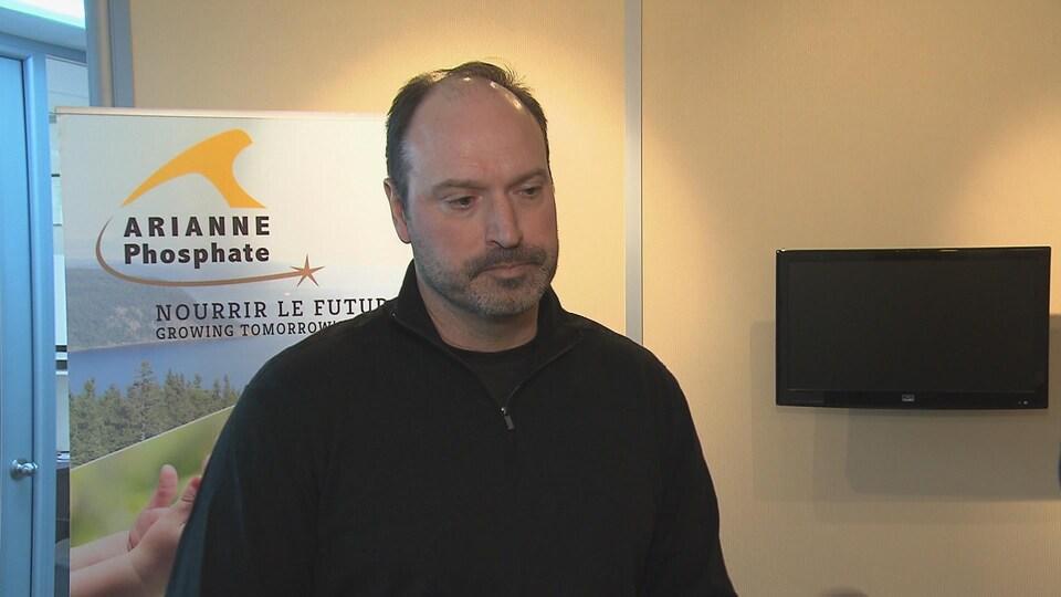 Le chef des opérations chez Arianne Phosphate, Jean-Sébastien David.