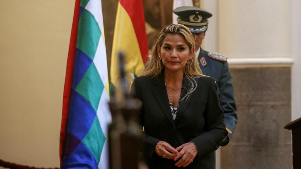 La présidente par intérim autoproclamée de la Bolivie Jeanine Añez