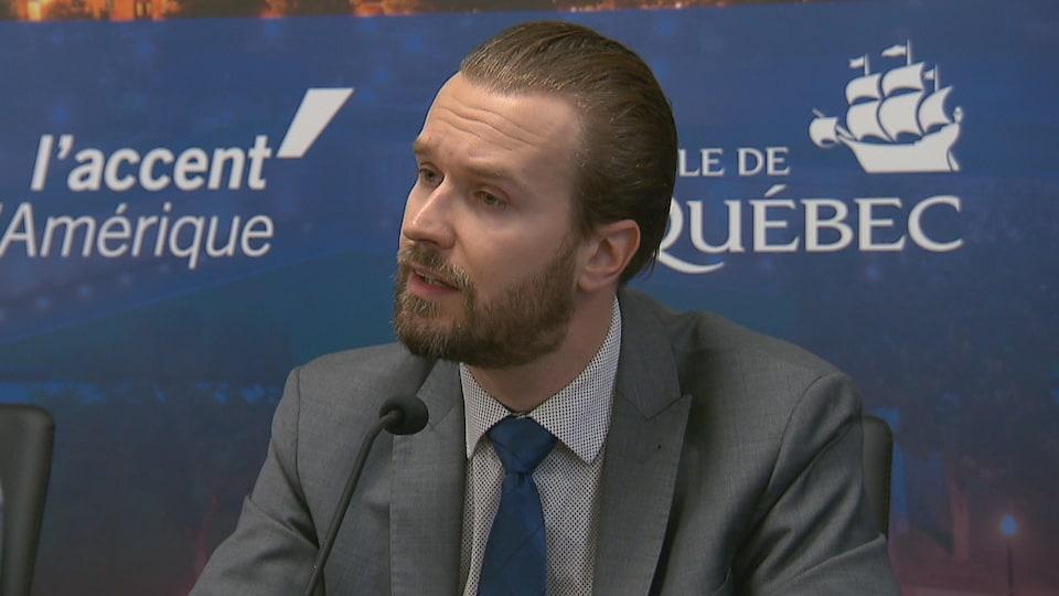 Jérémie Ernould, conseiller municipal responsable du déneigement à Québec