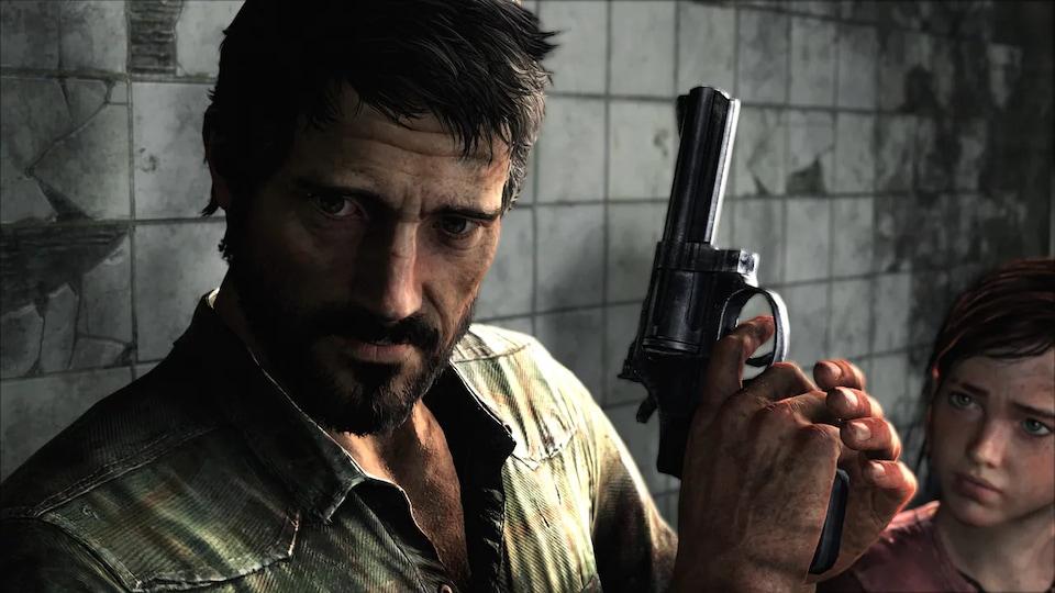 Une scène du jeu vidéo où on voit Joel, un survivant endurci engagé pour faire sortir clandestinement l'adolescente Ellie d'une zone de quarantaine.
