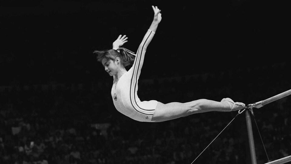La gymnaste Nadia Comaneci en 1976.