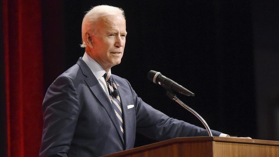 Joe Biden, s'adressant à un auditoire.