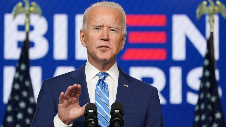 Joe Biden en point de presse mercredi.