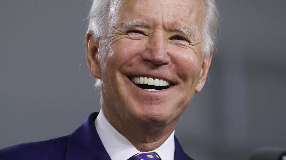 Le candidat démocrate Joe Biden lors d'un événement de campagne à Wilmington, au Delaware.