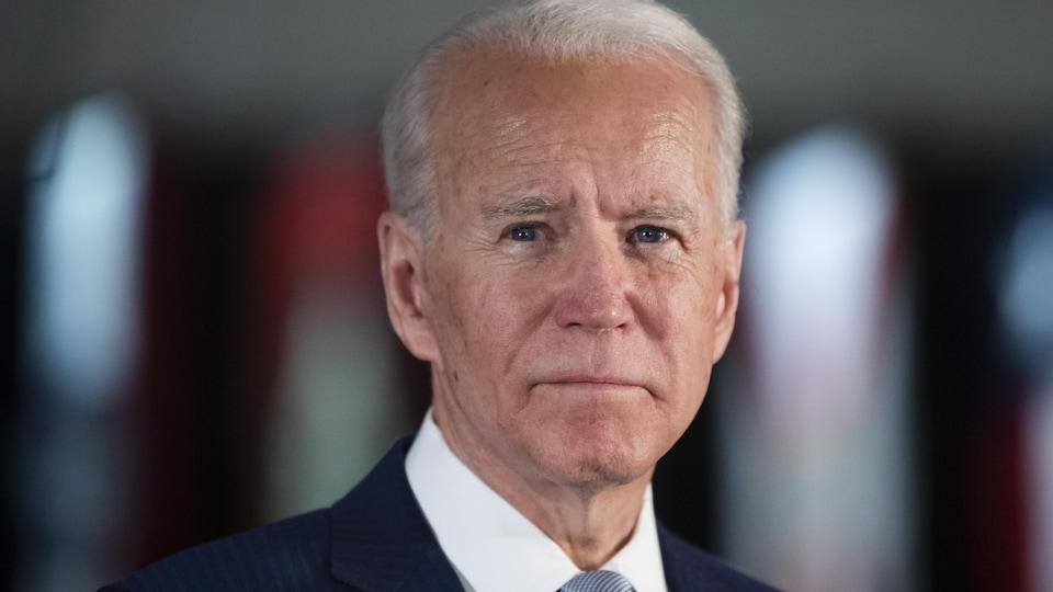 Un plan rapproché de Joe Biden.